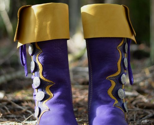 Tony's Purple & Gold Ren Boots
